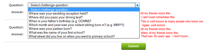 Security Questions 2