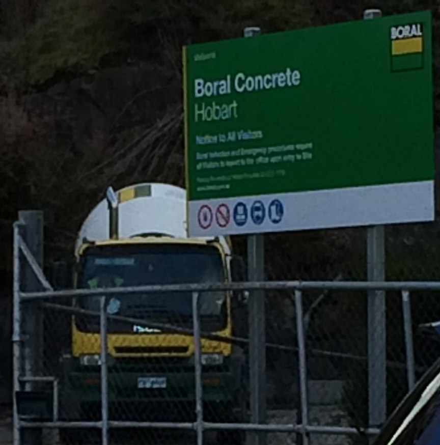 The iPhone does a Telephoto Spy Shot into Boral Concrete's Depot