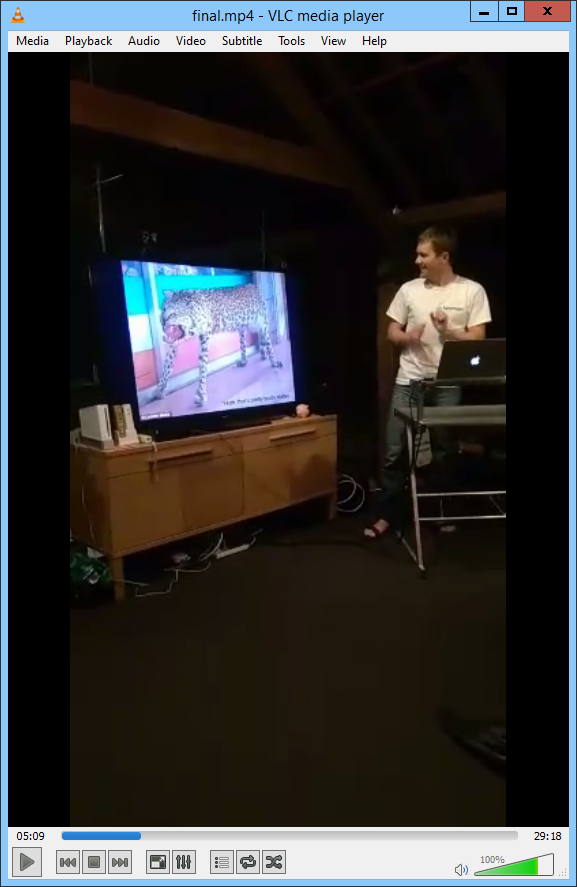 Final video in VLC