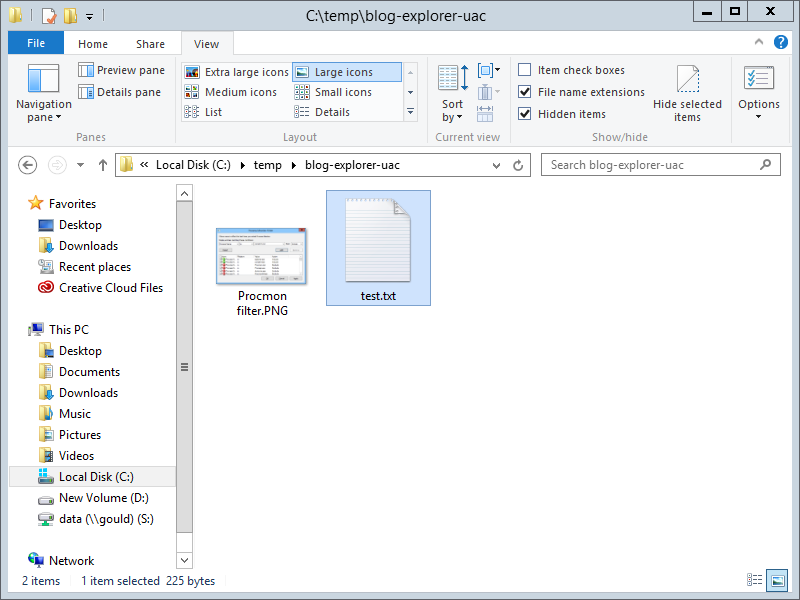 Source folder