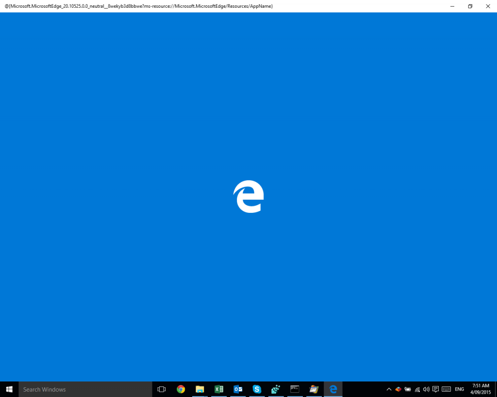 Microsoft Edge starts and immediately exits